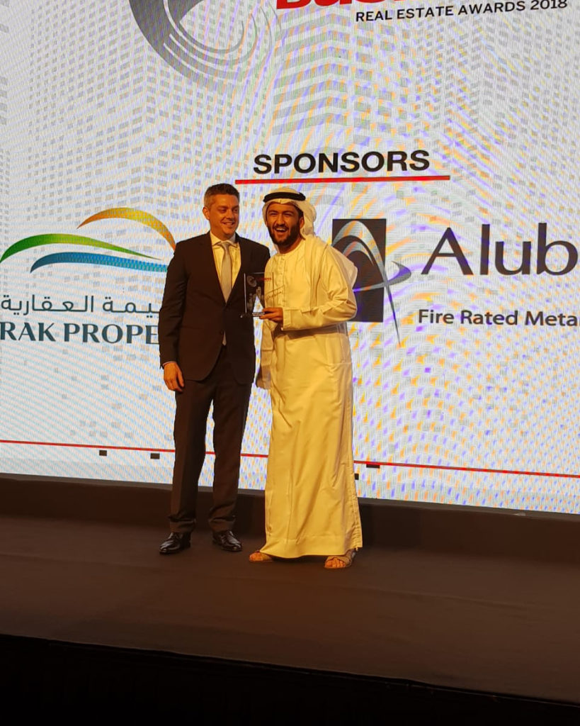 A privilege & honour to represent my role model, my father @hussainsajwani, who was just recognised as a Real Estate Legend at the @ArabianBusiness Real Estate Awards 2018