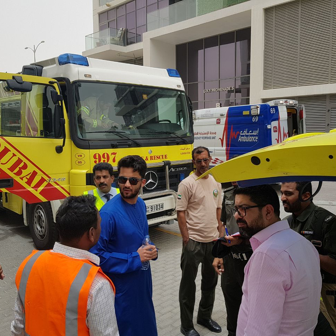Happy to take part in the annual #DamacHills fire drill , god bless the first responders. They are the real hero's who keep our city safe happy to take part with them