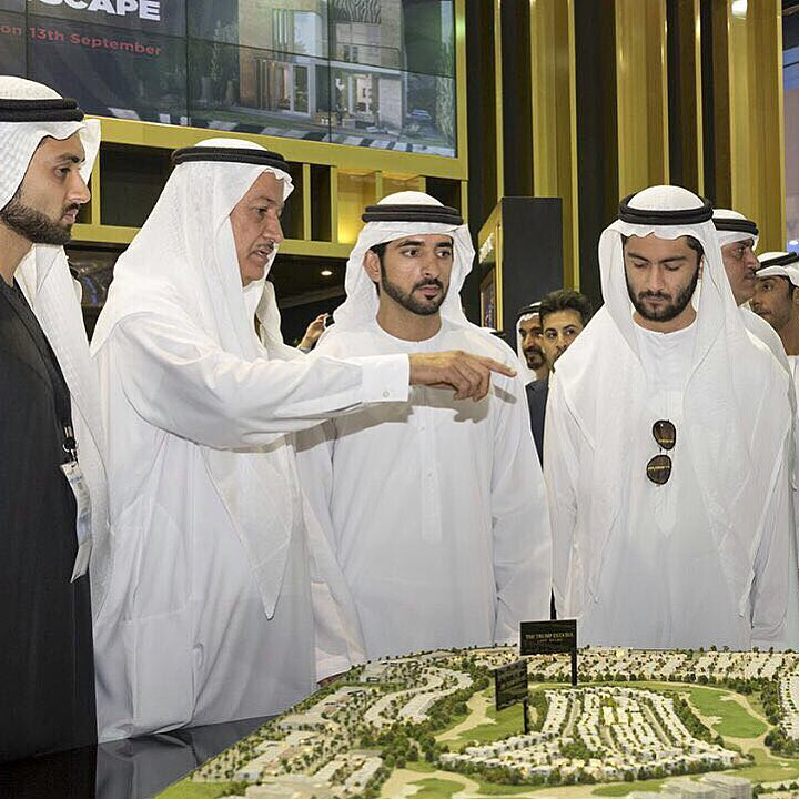It was an honour to receive His Highness Sheikh Hamdan Bin Mohammed, Crown Prince Of Dubai, To the #Damac stand in #Cityscape