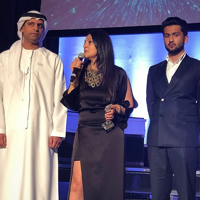 Was a pleasure to present the awards at the #ArabFashionWeek