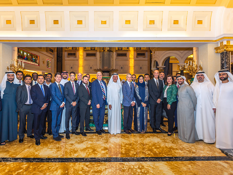 With the US-UAE Business Council Fin Tech delegates at our home